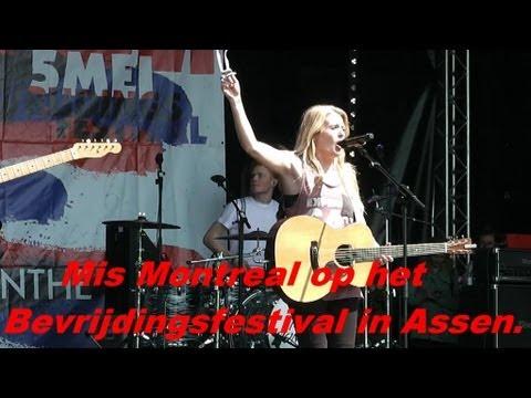 Miss Montreal op het Bevrijdingsfestival Assen.05-05-2013