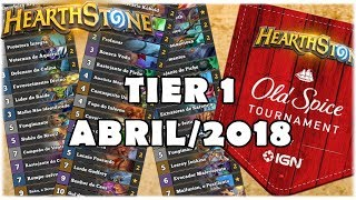 HEARTHSTONE - TIER 1 VIP DE ABRIL/2018 BY OLD SPICE!