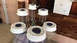 Así quedo el pastel de boda