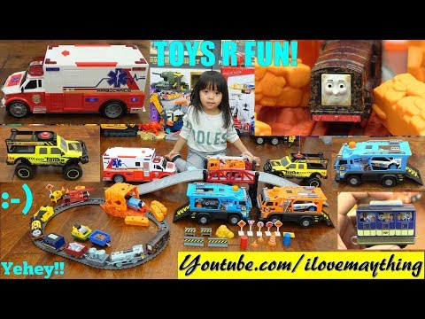 Ambulance Toy, Kids' Toy Trucks, Car Carrier Toy Truck and Thomas and Friends Trackmaster Set