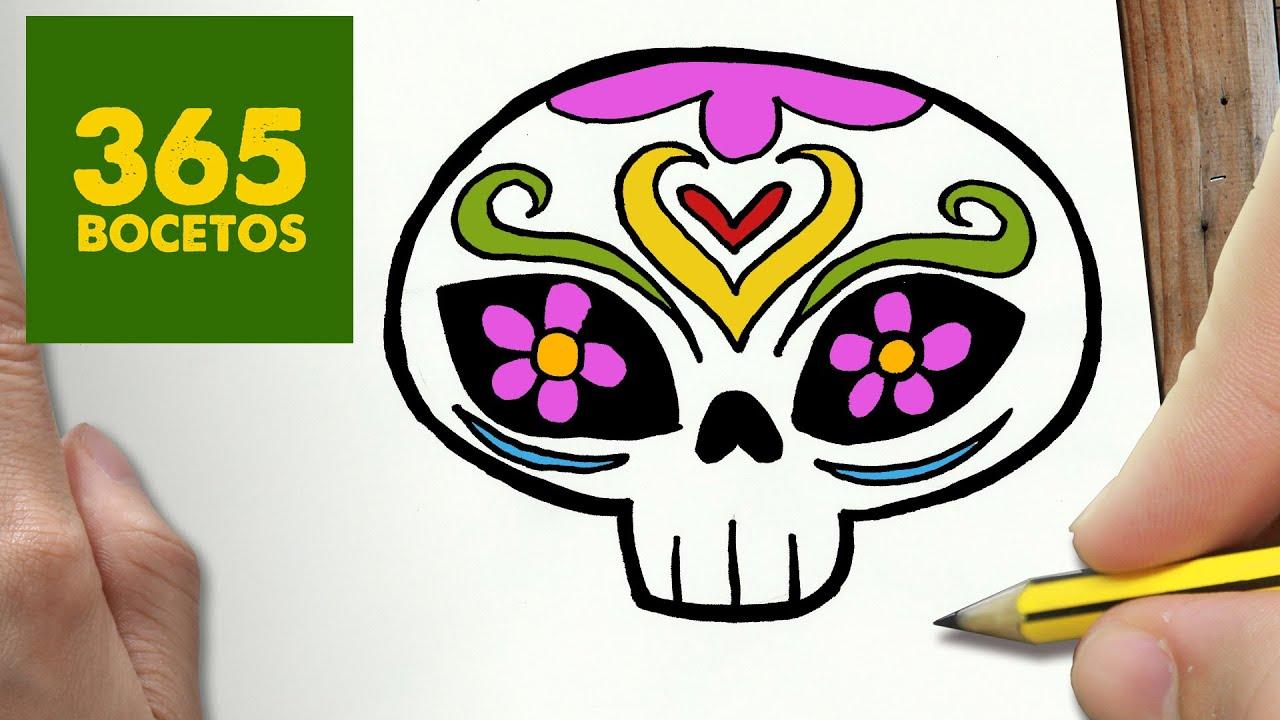COMO DIBUJAR CATRINA KAWAII PASO A PASO , Dibujos kawaii faciles , How to draw a CATRINA