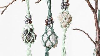 DIY : Macramé ornaments by Søstrene Grene