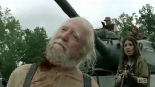 The Walking Dead Hershel Death Scene HD