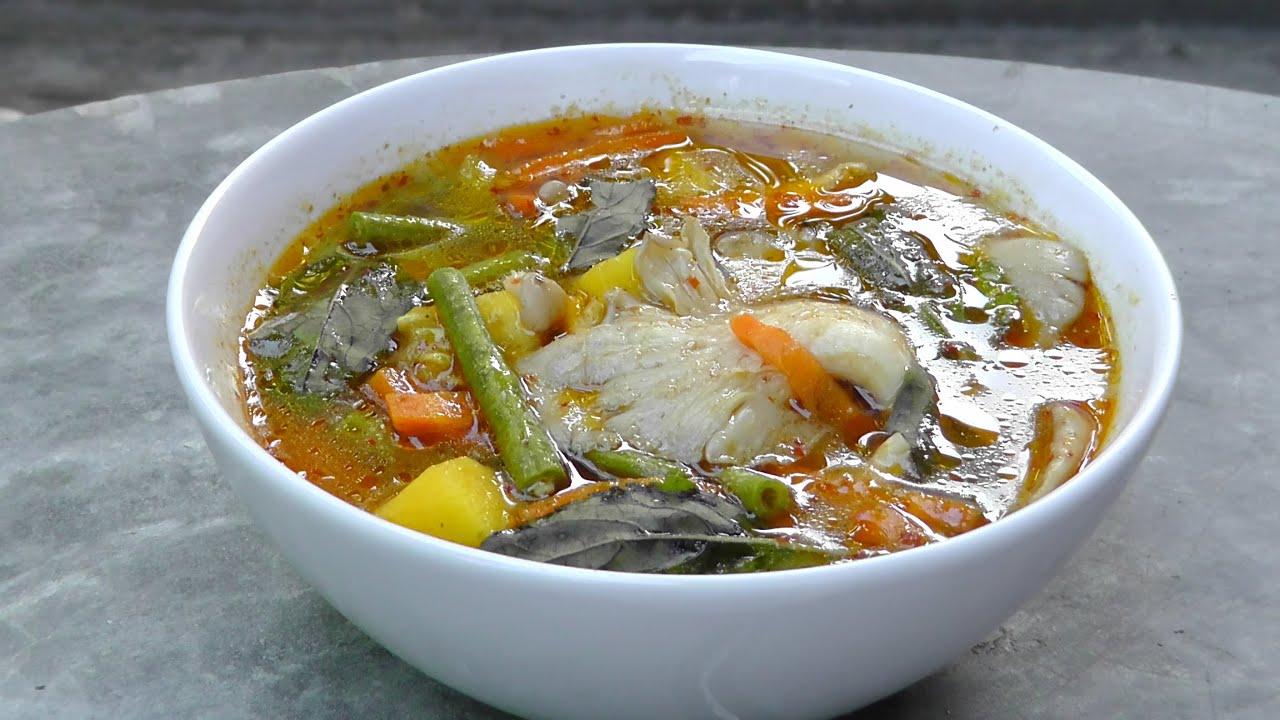 Vegan Vegetarisches Thai Rezept Kaeng Paa  scharfe Dschungel Curry Suppe  YouTube