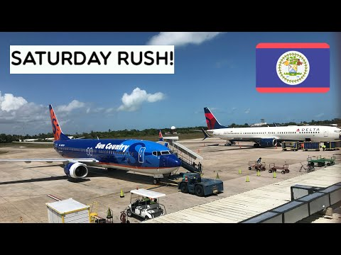 A Busy Saturday at Belize's International Airport!