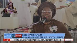 Chief Imam Of Lagos Presented WIth Staff Of Office