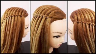 Waterfall Hairstyle For Girls || Easy Hairstyle For Everyday || Cute Hairstyles For Short Hair ||