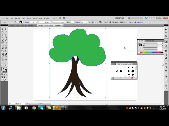 How to Use  Pencil tool in Adobe Illustrator