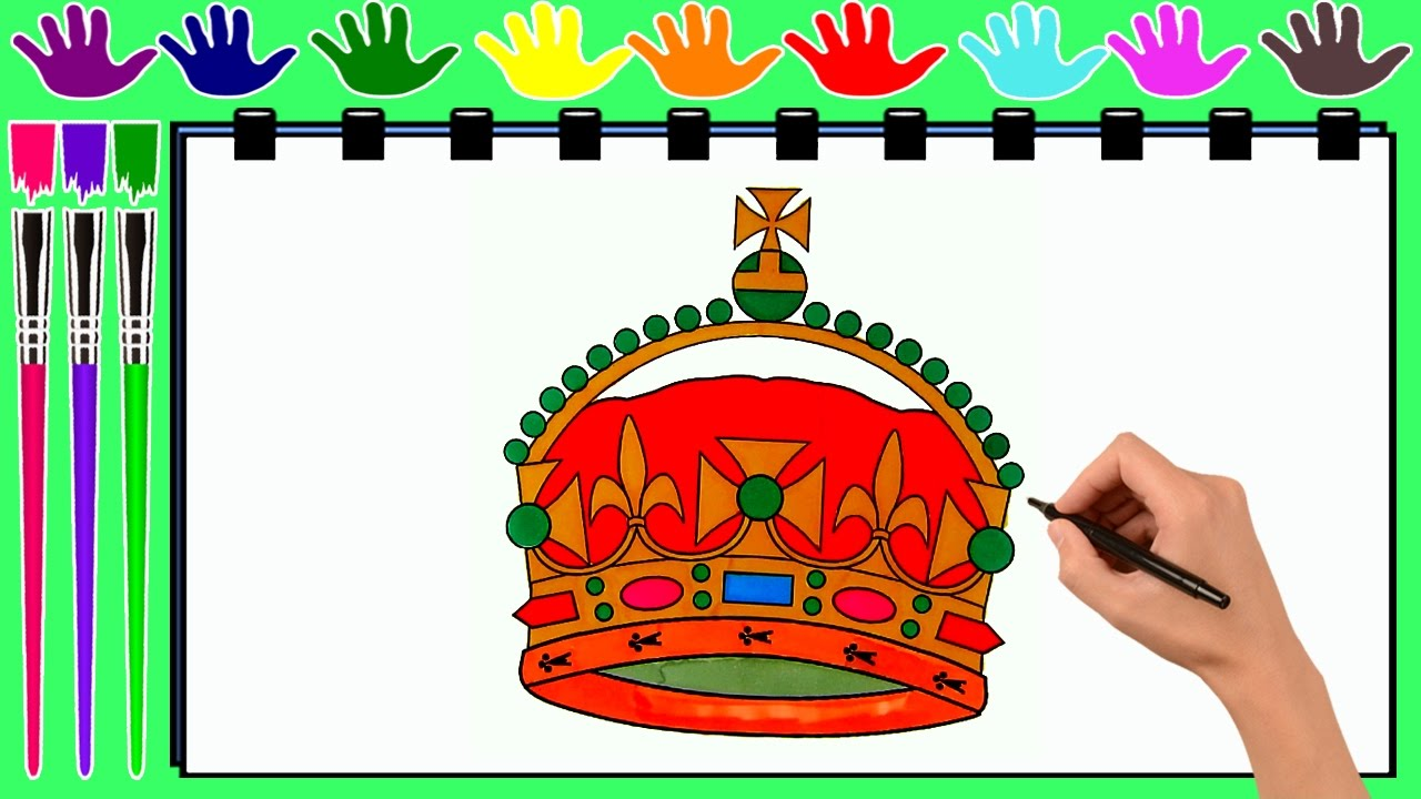 coloring pages king crown drawing pages to color for kids by