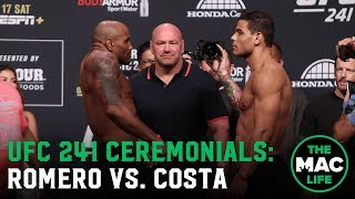 Yoel Romero vs. Paulo Costa | UFC 241 Ceremonial Weigh-Ins