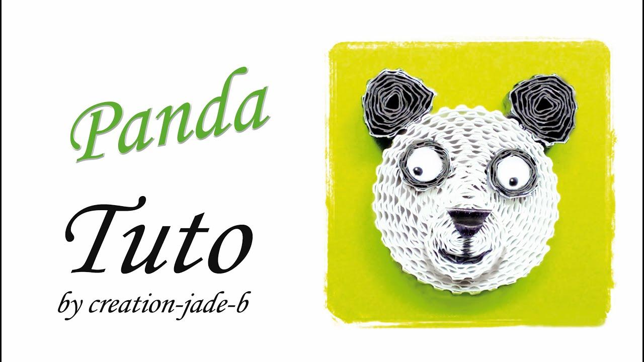 Bien-aimé Tuto Quilling / Carton Ondulé - Panda ! - YouTube XN36