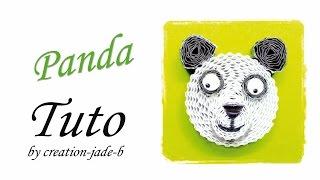Tuto Quilling / Carton Ondulé - Panda !