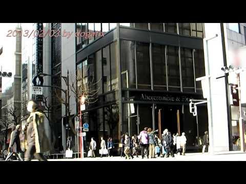Japan Trip 2013 Tokyo Ginza Abercrombie & Fitch pedestrian precinct 048