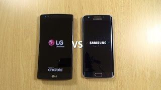 Galaxy S6 Edge Official Android 5.1.1 VS LG G4 Android 5.1 - Speed Test!