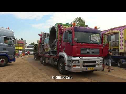 Kermis Santpoort 2018 Transport en opbouw Deel 4