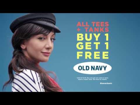Old Navy Commecial 2016 Tees Nasim Pedrad, Kumail Nanjiani