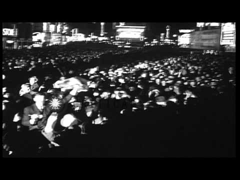 Franklin D Roosevelt re-elected for 3rd term presidential elections in United Sta...HD Stock Footage