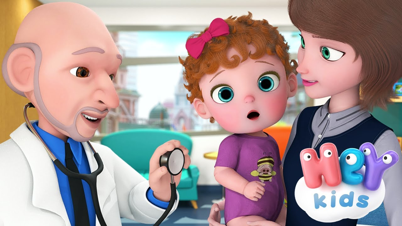 The Doctor song for kids 🩺  Baby Goes to Doctor cartoon | HeyKids - Nursery Rhymes
