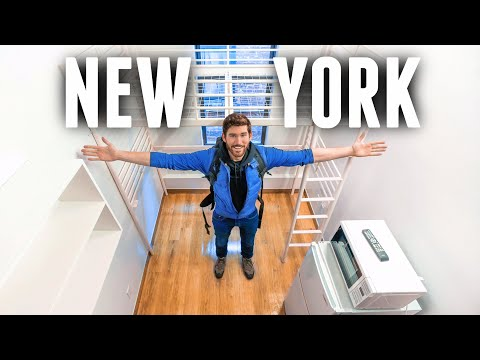 INSIDE the SMALLEST Apartment in NEW YORK CITY   60 ft.² Micro Studio