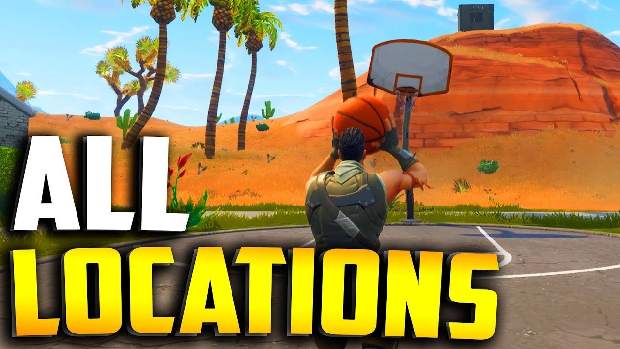 ALL BASKETBALL COURT LOCATIONS in Fortnite