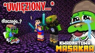 Zostałem uwięziony w BLOKU ZAHY I MAGISTRA za...  (Minecraft Kwadratowa Masakra)