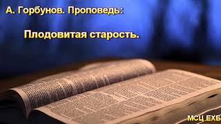 """""""Плодовитая старость"""". А. Горбунов. МСЦ ЕХБ."""