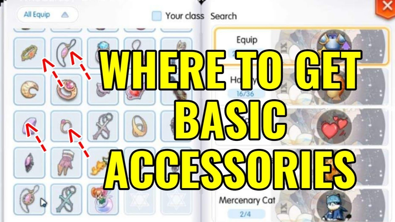 Where to get basic accessories in Ragnarok Mobile Eternal love