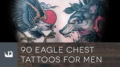 90 Eagle Chest Tattoos For Men