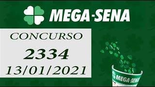 Resultado da Mega Sena – Mega Sena 2334 – 13/01/2021