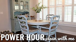 POWER HOUR CLEAN WITH ME // EXTREME CLEANING MOTIVATION // CLEAN WITH ME 2018