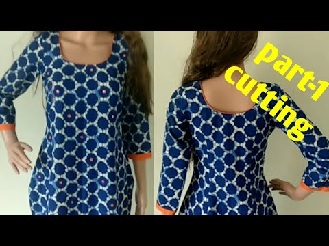 simple kameez/dress cutting and stitching in hindi |DIY|