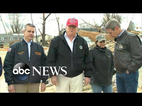 President Trump surveys Tennessee tornado damage l ABC News