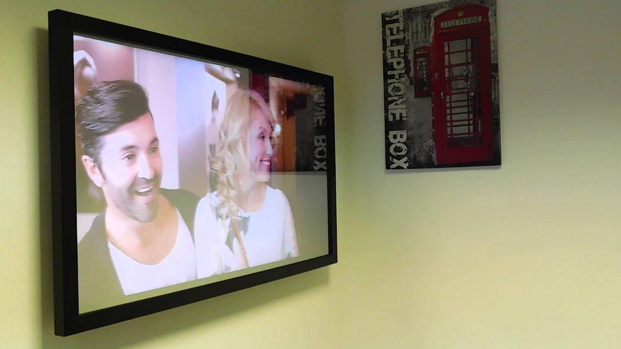 Samsung 55 mirror tv demo hidden mirror television test for Mirror for samsung tv