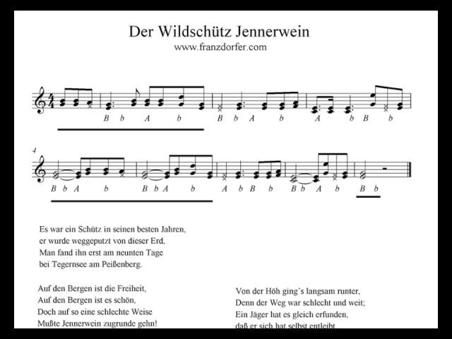 Der Wildschütz Jennerwein - Griffschrift