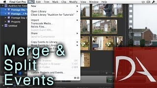 #FCPX 10.1 Tutorial - Merge and Split Events