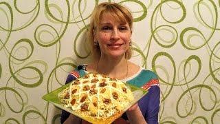 """Мясной салат """"Мужской каприз"""" на праздничный стол просто и быстро"""
