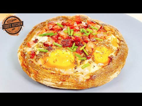 Breakfast Stuffed Portobello Mushrooms Keto recipe