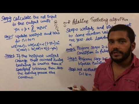 adaline training algorithm