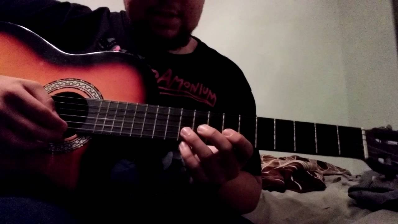 How to play Left 4 Dead 2 main menu theme on acoustic guitar