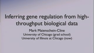 DOE CSGF 2013: Inferring Gene Regulation From High-Throughput Biological Data