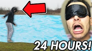 I Was Blindfolded for 24 hours and IT WAS AWFUL! (24 Hour BlindFolded Challenge)