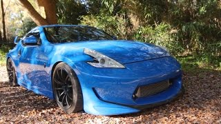 Twin Turbo 370z Review!- Boosted,Blue, and Lady Driven!