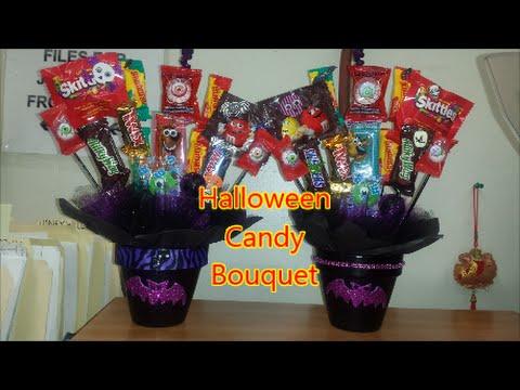 Diy Candy Bouquet Halloween Idea