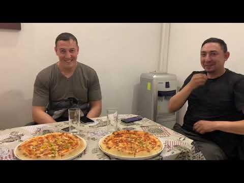 Съешь 1кг пиццы за 10 минут или плати, Челлендж, Заруба по поеданию пиццы#съешьилиплати#челлендж
