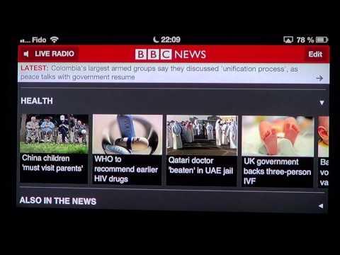 Iphone Ipad app   BBC world news