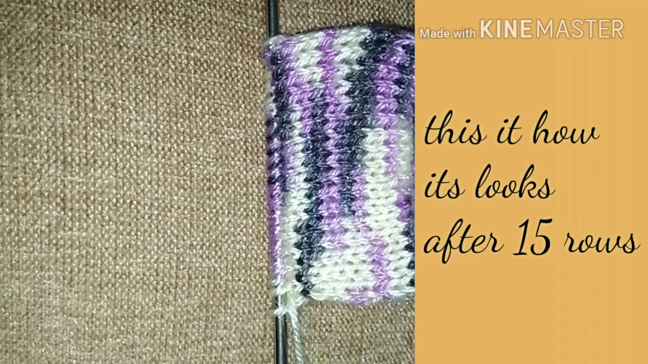 Circular knitting with two needles - YouTube