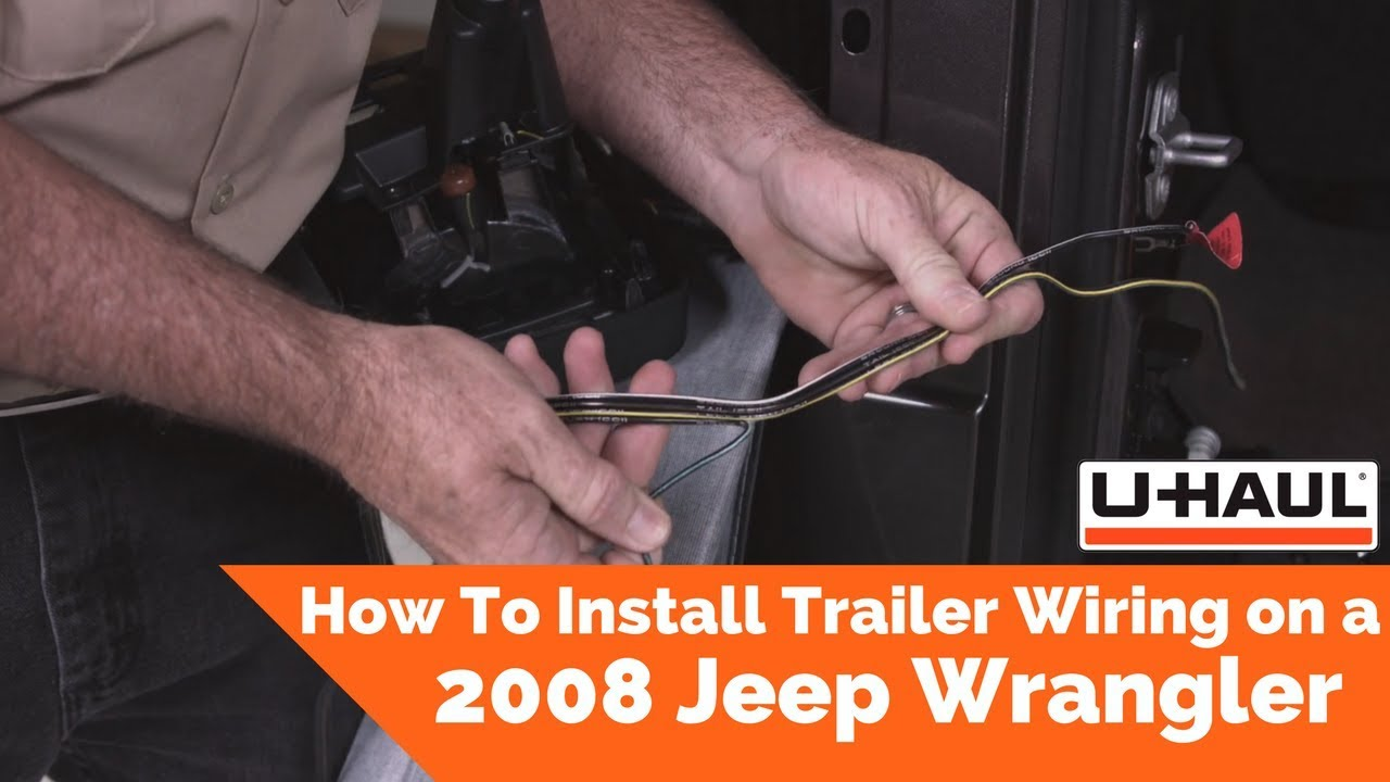 2008 jeep wrangler trailer wiring installation youtube Jeep JK Trailer 2008 jeep wrangler trailer wiring installation