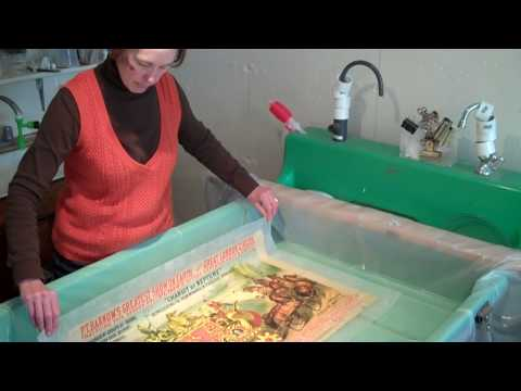Circus Poster Conservation by M.J. Davis for Shelburne Museum.mp4