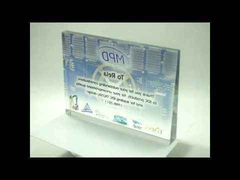 TRI h Color print on glass award Intel Haifa