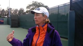 Womens Tennis//Nancy Harris after win over #1 Duke